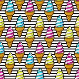 Безшовное красочное мороженое бесплатная иллюстрация
