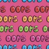 Безшовное красочное oops на пинке бесплатная иллюстрация