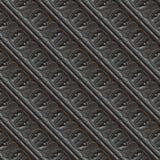 безшовное металла гравировки орнаментальное Стоковая Фотография RF