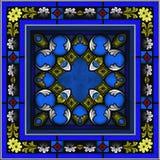 Безшовное окно цветного стекла сделанное по образцу иллюстрация вектора