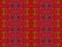 Безшовное орнаментальное золото красного цвета картины Стоковая Фотография RF