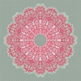 безшовное орнаментальной картины шнурка круглое Стоковые Фотографии RF