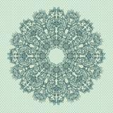 безшовное орнаментальной картины шнурка круглое Стоковое Изображение