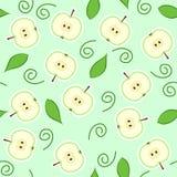 безшовное отрезанное яблоком зеленое Стоковые Фотографии RF