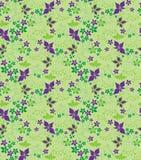 безшовное предпосылки декоративное флористическое Стоковые Фотографии RF