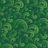 безшовное предпосылки флористическое зеленое Стоковые Изображения RF