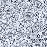 безшовное предпосылки флористическое ретро иллюстрация вектора
