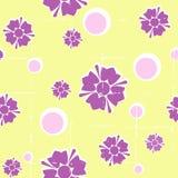 безшовное предпосылки флористическое grungy ретро Стоковое Изображение