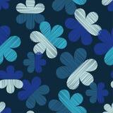 безшовное предпосылки декоративное флористическое Текстура Scribble Ретро мотив Стоковые Изображения