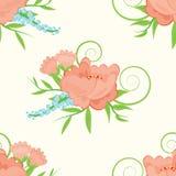 безшовное предпосылки флористическое Стоковая Фотография