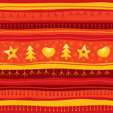 безшовное рождества предпосылки красное Стоковые Фотографии RF