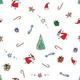 Безшовное рождество картины вектора Стоковое Фото