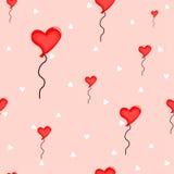 Безшовное сердце воздушных шаров Стоковое фото RF