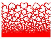Безшовное сердца горизонтальное Стоковое фото RF