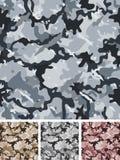 Безшовное сложное воинское камуфлирование ночи Стоковое Изображение RF