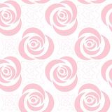 безшовное флористической картины ретро Стоковые Изображения RF