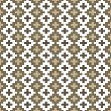 Безшовное фоновое изображение квадратного креста проверки геометрии мозаики Стоковая Фотография