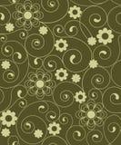 безшовное цветков зеленое Стоковое Изображение