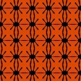 Безшовное черной картины геометрическое Стоковое Изображение