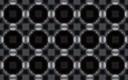 Безшовное элегантное геометрическое 3D звенит картина в сером масштабе бесплатная иллюстрация