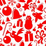 безшовное элементов рождества patern Стоковая Фотография