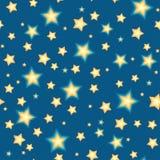 Безшовное bacgkround с звездами шаржа Стоковое Изображение RF