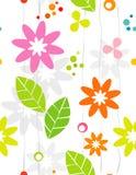 безшовное backgrou флористическое ретро Стоковые Изображения RF
