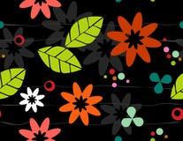 безшовное bkgrd флористическое ретро иллюстрация вектора