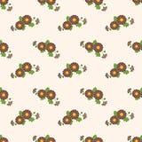 Безшовное bro завода лист цветка фонового изображения красочное ботаническое Стоковые Фотографии RF
