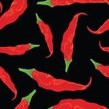 безшовное chili горячее бумажное Стоковое Фото