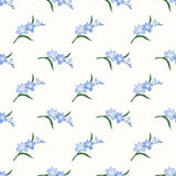 Безшовное lig завода лист цветка фонового изображения красочное ботаническое Стоковое Изображение RF