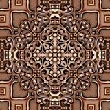 Безшовной абстрактной винтажной покрашенная предпосылкой картина мозаики симметричная на текстурированном дизайне оформления цвет иллюстрация штока