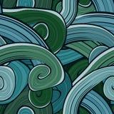 Безшовной абстрактной нарисованная рукой картина волн волнисто иллюстрация штока