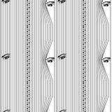 Безшовной глаза картины спрятанные женщиной смотря до вертикальные венецианские шторки eps 10 бесплатная иллюстрация