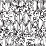Безшовной картина волны нарисованная рукой, предпосылка волн Стоковое фото RF