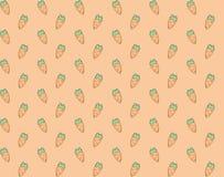 Безшовной красочной нарисованная рукой картина морковей Стоковое Изображение