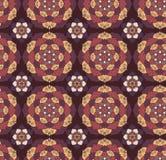 Безшовной нарисованная рукой картина мандалы декоративный сбор винограда элементов иллюстрация штока