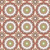 Безшовной нарисованная рукой картина мандалы декоративный сбор винограда элементов иллюстрация вектора