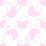 Безшовной нарисованная рукой картина сердец Стоковые Фотографии RF