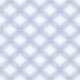 Безшовной предпосылка выстеганная белизной с штырями жемчуга Стоковое Изображение