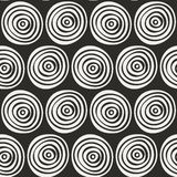 Безшовной стильной картина нарисованная рукой Иллюстрация вектора с концентрическими кругами Стоковые Фото