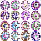 Безшовной стильной картина нарисованная рукой Иллюстрация вектора с концентрическими кругами Стоковое Изображение