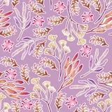 Безшовной цветочный узор проиллюстрированный рукой иллюстрация штока