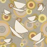 Безшовно с чашками кофе иллюстрация штока