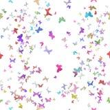 Безшовные бабочки бумаги Origami Стоковые Изображения RF
