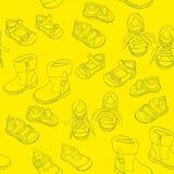 Безшовные ботинки Стоковое Изображение RF