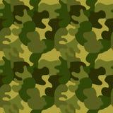 Безшовные войска камуфлируют зеленый цвет иллюстрация вектора
