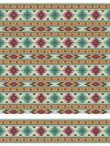 Безшовные геометрические этнические картина и граница Стоковое Изображение