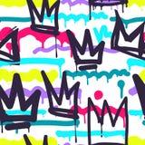 Безшовные граффити картины Стоковые Фото