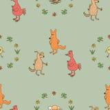 Безшовные животные картины 3 Стоковые Изображения